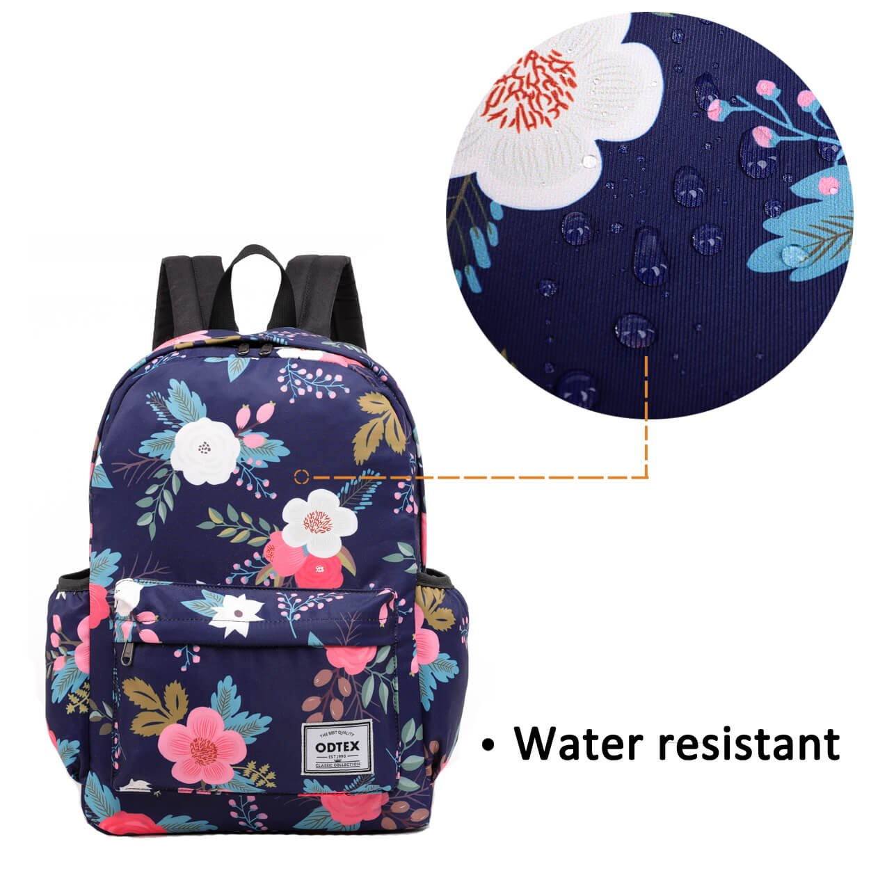 ODTEX Backpack Water Resistant School Bookbag for College Travel Laptop Backpack Fits for 15 inch Notebook and Tablet by ODTEX (Image #1)