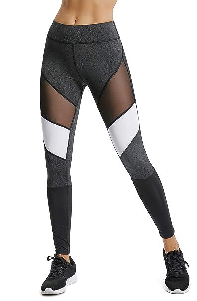 FITTOO Legging Femme Pantalon Yoga Taille Haute Amincissant ...