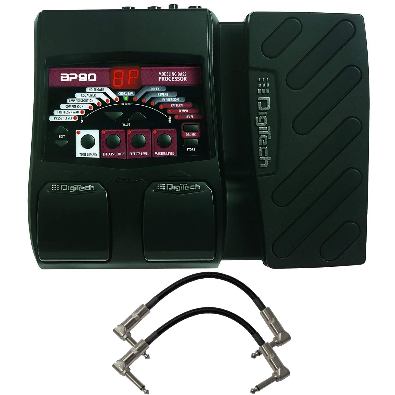 DigiTech BP90 Bass Guitar Multi-Effects Processor Bundle with 2 Patch Cables by DigiTech