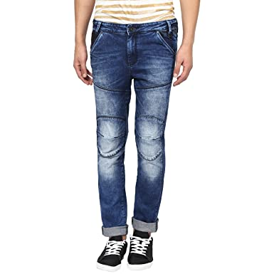 fb38d70aeb35 Mufti Men s Low Rise Slim Fit Jeans (36, Dark Blue)  Amazon.in ...