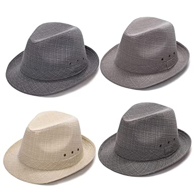 Summer Sun Hat Linen Outdoor Travel Beach Casual Jazz Fedora Cap Gorras para Hombre Cap Women