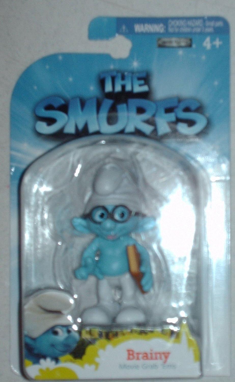 The Smurfs Movie Grab Ems Mini Figure Brainy Jakks schl04-WFS12649FBA