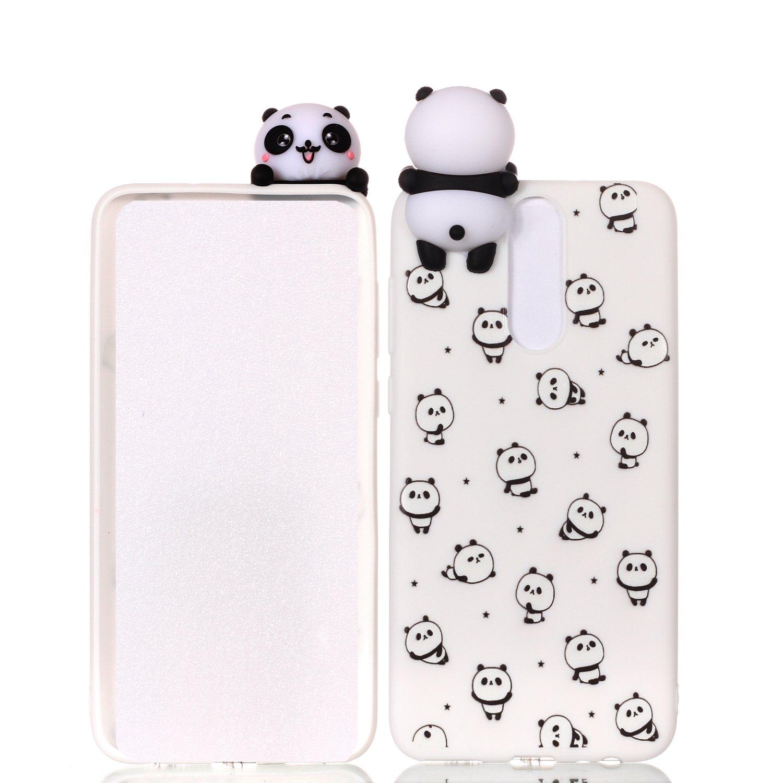 HopMore Coque Huawei Mate 10 Lite Silicone Souple 3D Design Motif Drôle Mignonne Etui Huawei Mate 10 Lite Étui Antichoc Ultra Mince Fine Gel Bumper Slim Case Housse Protection pour Fille Femme - Petit Panda