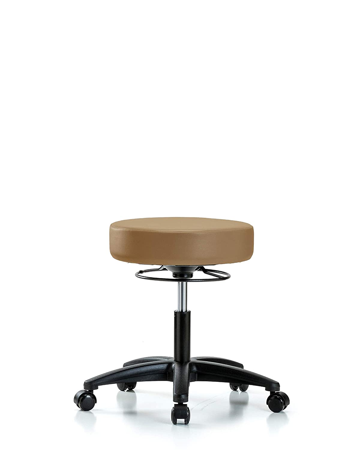 Labs Adjustable Stool for Exam Rooms Desk Height Colonial Blue and Dentists with Wheels