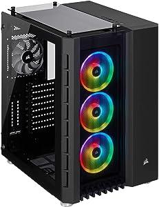 Corsair Crystal Series 680X RGB - Caja de PC, Vidrio Templado ATX Smart Gaming Case con alto flujo de aire, Iluminación RGB LED, Negro