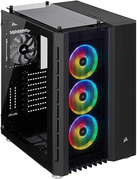 Corsair Crystal Series 680X RGB - Caja de PC, Vidrio Templado ATX Smart Gaming Case con alto flujo de aire, Iluminación RGB LED, Negro: Amazon.es: Informática