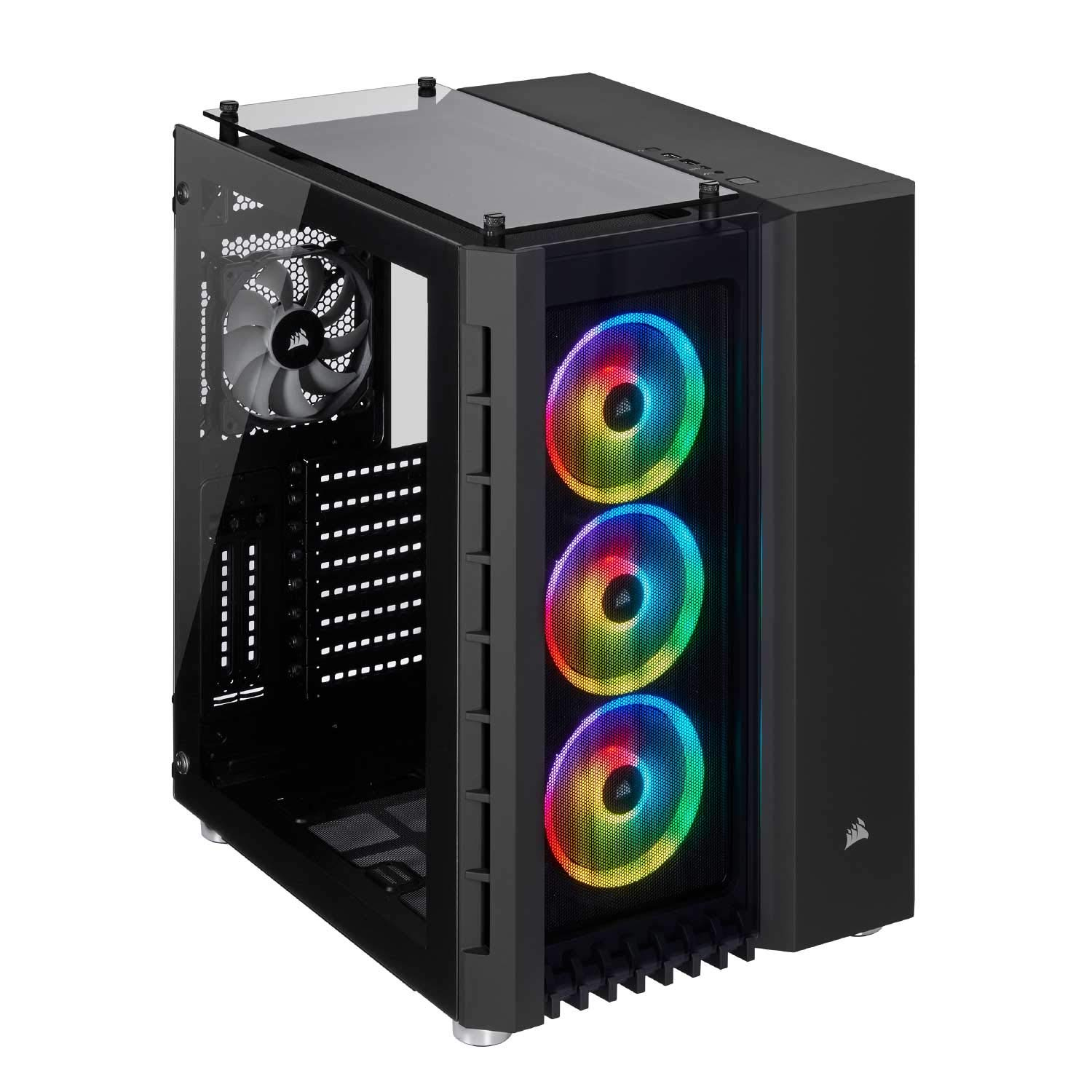 CORSAIR Crystal Series 680X RGB High Airflow Tempered Glass ATX Smart Case, Black