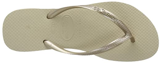 Havaianas Slim Sand Grey/Light Golden Flip Flops - UK 5 - BR 37/38 - EU  39/40: Amazon.co.uk: Shoes & Bags