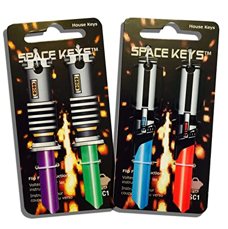 Amazon.com: Juego de 4 llaves Space Keys con forma de sable ...
