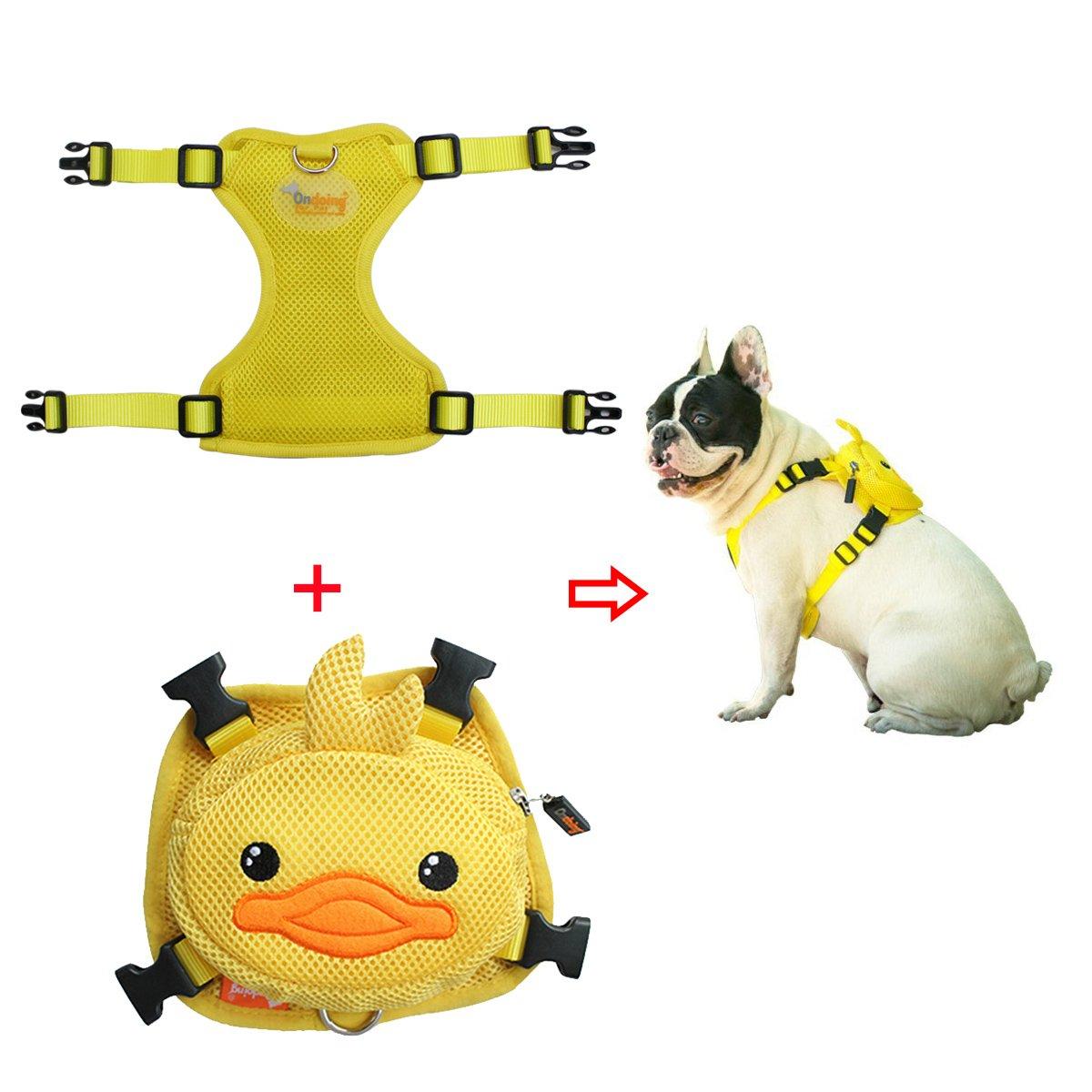 2fdf764c12dc Amazon.com : Ondoing Dog Backpack Adjustable Saddle Bag Outdoor Dog ...
