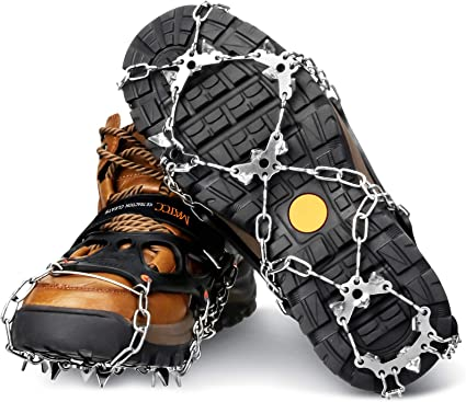 Outdoor Snow Ice Anti-Slip Grippers Sports Spikes Grips Crampons Shoes TPE Cover