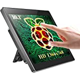 UPERFECT Raspberry Pi Touchscreen Monitor with Case, 10.1'' IPS 1366x768 Ultra Wide Screen, 10-Point Touch, Heat Sink, Dual S
