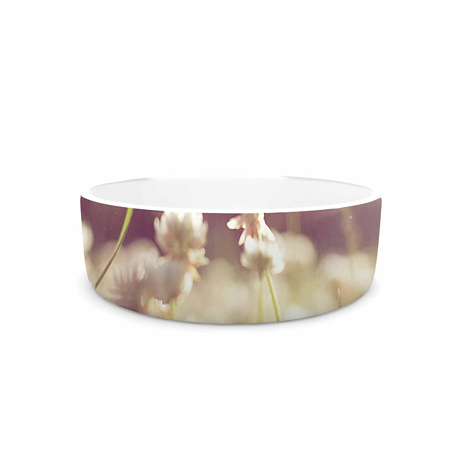 7\ KESS InHouse Angie Turner Daydream  Floral Green Pet Bowl, 7