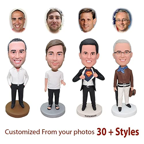 92439397f82c Custom Bobblehead Doll Customized Gifts for Men, Personalized Photo Gifts  for Boyfriend Husband Dad, Unique Gift for Anniversaries, Birthdays, ...