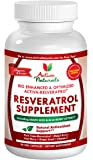 Activa Naturals Resveratrol Supplement - 90 Veg. Capsules with Japanese Knotweed, Pure Trans-Resveratrol, Grape Seed Extract & More Optimized Antioxidants
