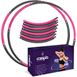 Weighted Hula Hoop for Adults - Professional Soft Padding Hoola Hoops for Exercise 8 Sections Detachable Design Fitness Worko