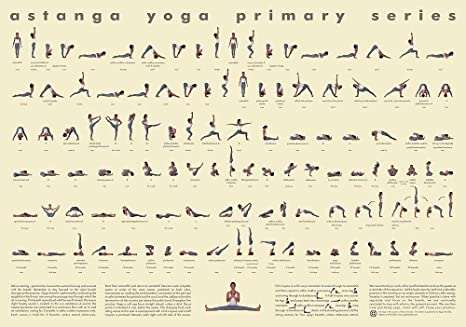 112 Posture Yoga Chart - Ashtanga Primary Series - Large Wall Use Version