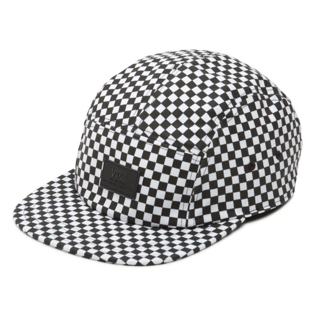 5eb8146792c7e Vans Black-White Check Davis Five Panel Adjustable Cap (Default, Black) at Amazon  Men's Clothing store:
