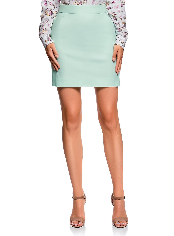 oodji Ultra Mujer Falda de Algodón con Bolsillos: Amazon.es: Ropa ...