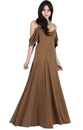 c4846f2f52cd6 Viris Zamara Petite Womens Long V-Neck Short Sleeve Flowy Sexy Cold  Shoulder Evening Cute