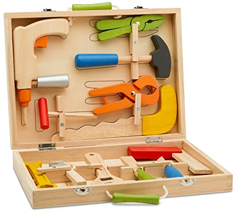 Buy Top Race 12 Piece Tool Box Solid Wood Tool Box With Colorful