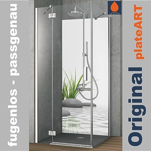 original plateart rckwand dusche alu ohne fugen eck duschrckwand einzelplatte fliesenspiegel fliesenersatz motiv - Ruckwand Dusche Bild