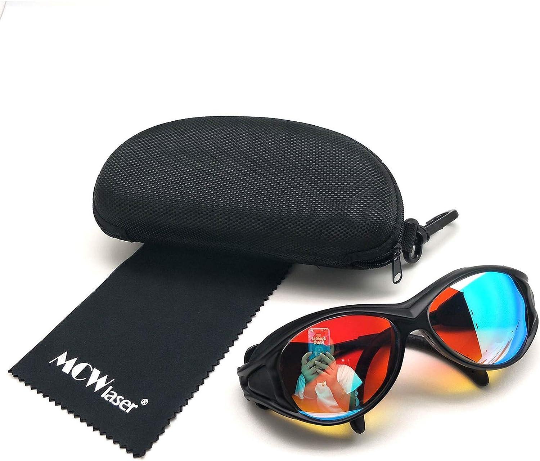 MCWlaser Gafas Protectoras de Seguridad con láser de CO2 Gafas 10600 NM y 532 NM Tipo Reflectante CO2 Laser EP-4 Gafas para CO2 Grabado con láser Corte Instrumento de Tratamiento de Belleza EP-27