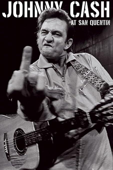 GB Eye Johnny Cash San Quentin Portrait Poster