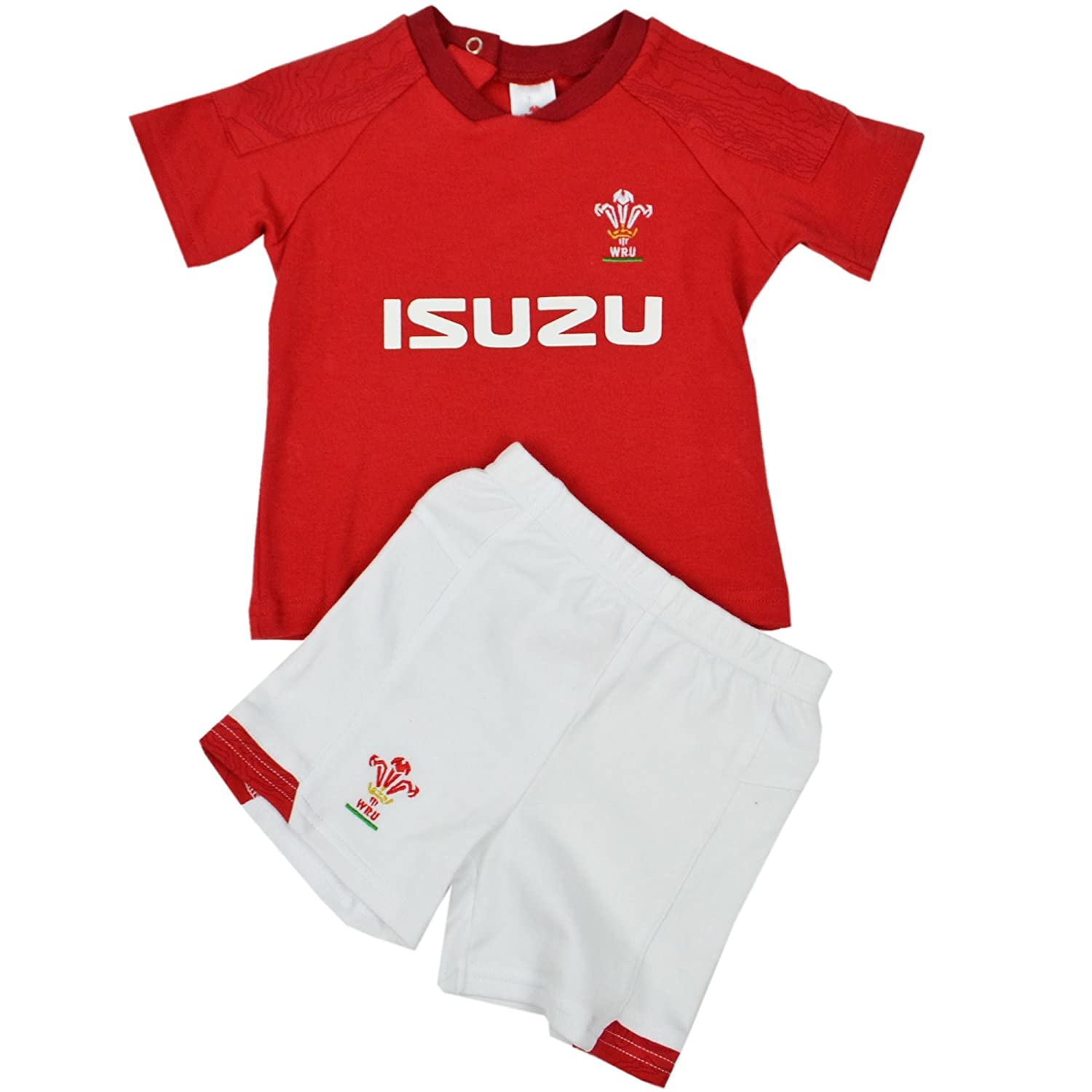 2018//19 Season 6-9 Months Wales WRU Official Rugby T-Shirt /& Shorts Set
