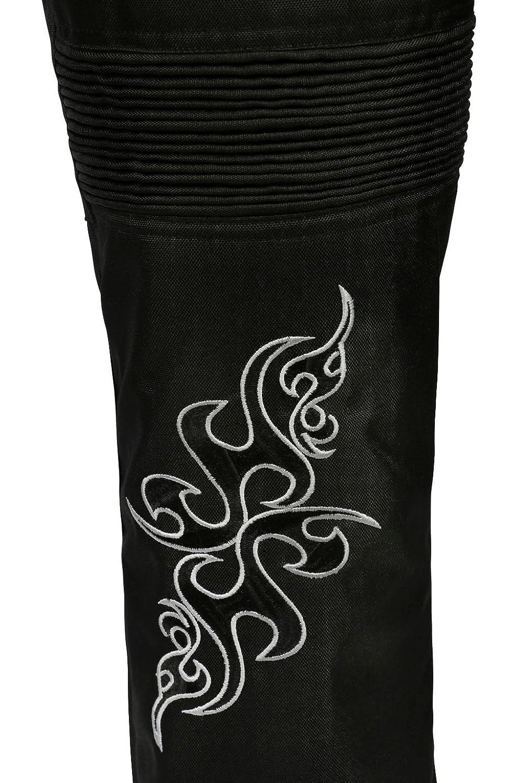 Bangla 501tribal Damen Cordura Hose Motorradhose im Jeanslook Schwarz L