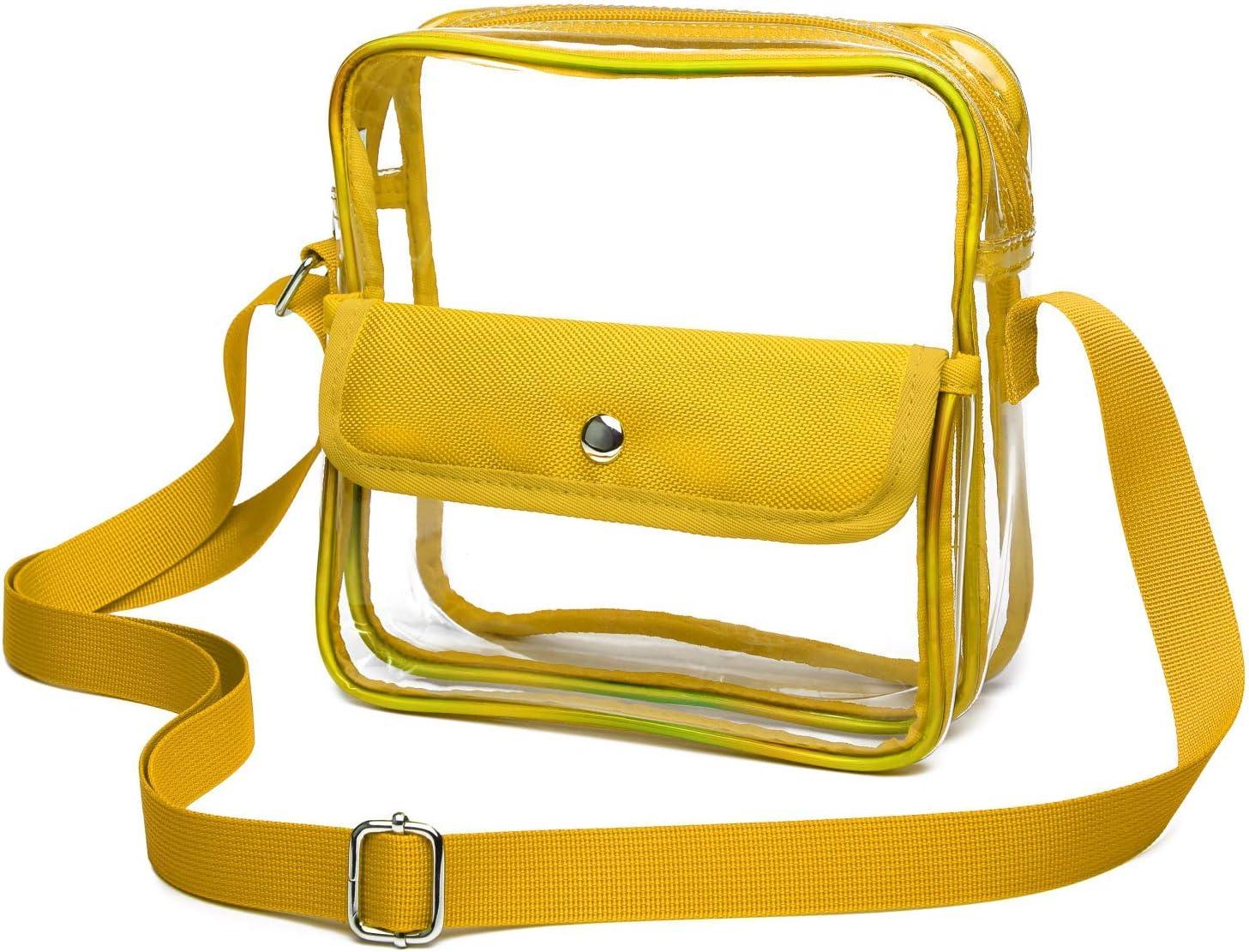 Women Men Clear Cross-Body Bag Stadium Approved Messenger Shoulder Bag