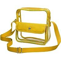 SPEEDEVE Bolso Bandolera Transparente Impermeable para Mujer, Amarillo