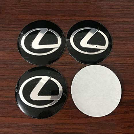 DMD 63MM Silver Chrome Center Cap 4 Pieces Set Wheel Rim Mags Tire Hub Hubcap Full Piece ABS Cover Universal Tuning Mod Logo Badge Emblem Fit for ES RX LC LS GX RC etc
