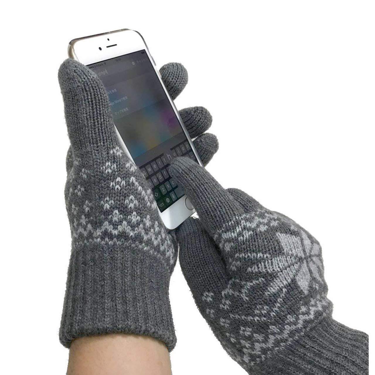 [ZakkaRico] 手袋 裏起毛 極暖 防寒 フカフカ 暖かい グローブ スマホ スマートフォン対応 ノルディック