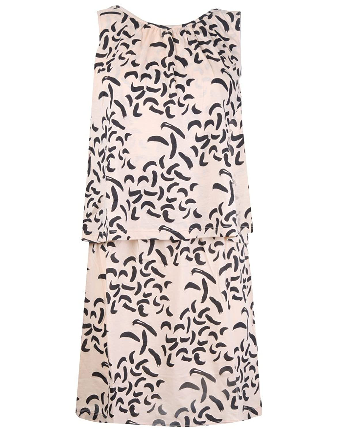 Neutral Hoss Intropia Women's Patterned Tiered Dress - Neutral