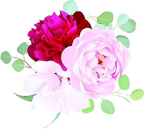Amazon.com Beautiful Pink Wedding Floral Flower Cartoon Art