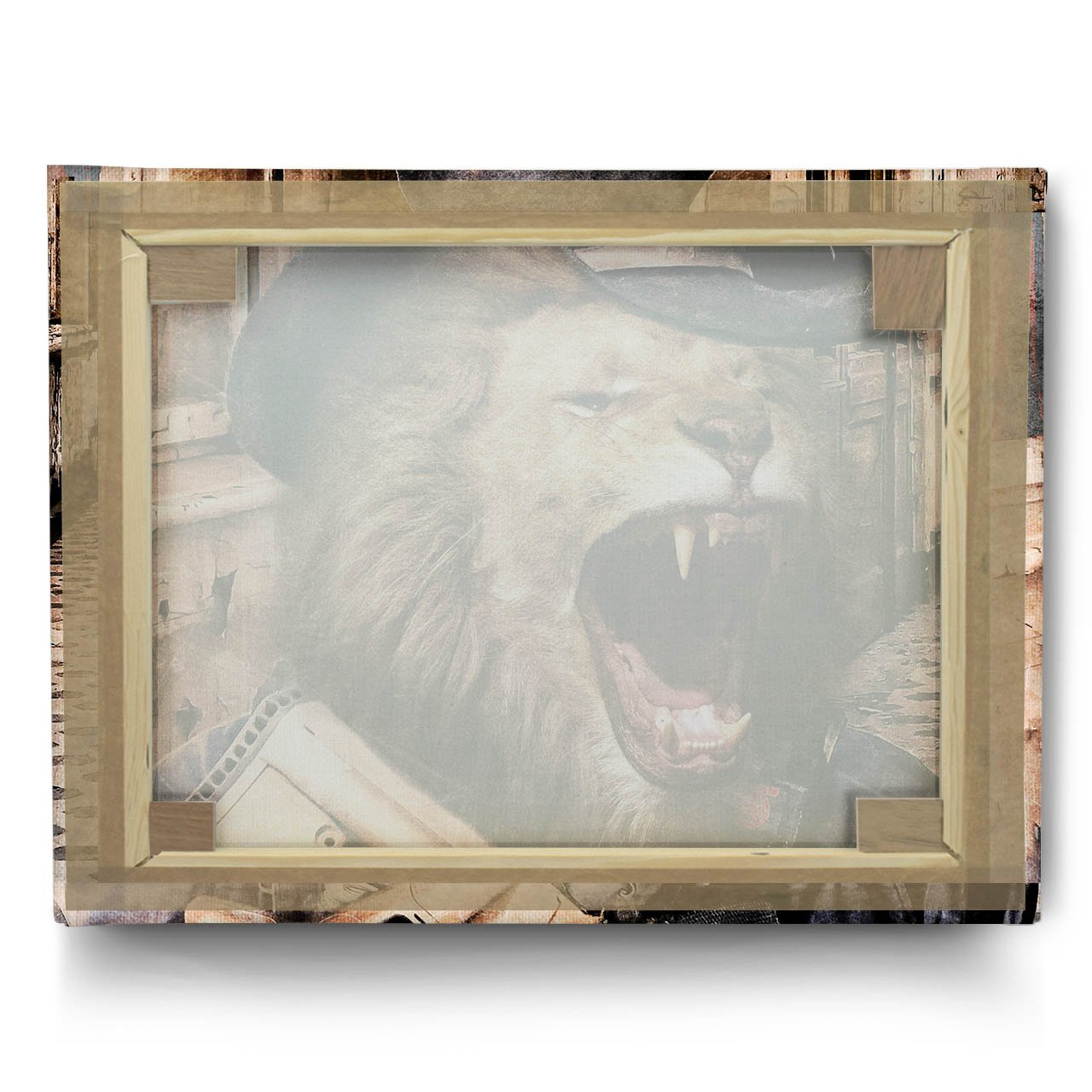 Amazon.com: Lion Gun Criminal Animal Terrorist Wall Art Canvas 20\