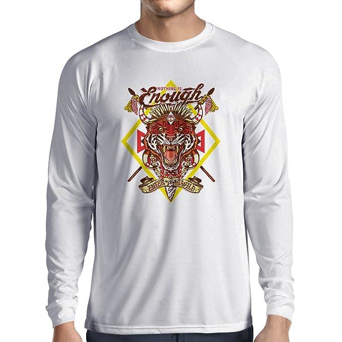lepni.me Camisetas Hombre Nada es Suficiente: entra en lo Salvaje: Ropa Urbana, Swag, Hippie, Estilo Hipster
