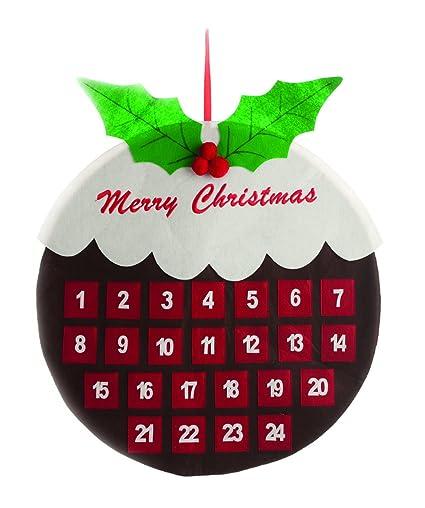 Calendario Dellavvento In Feltro.Festive Productions Natale Pudding Calendario Dell Avvento