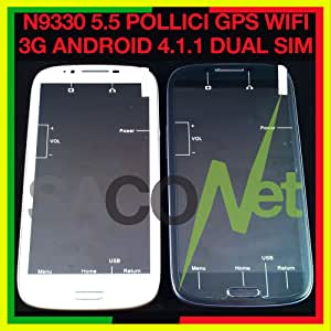 Mobile Phone Android Smartphone N7100 4.1 Touch 5,5 Pulgadas Dual SIM Bluetooth 4 GB 3 G Blanco: Amazon.es: Electrónica