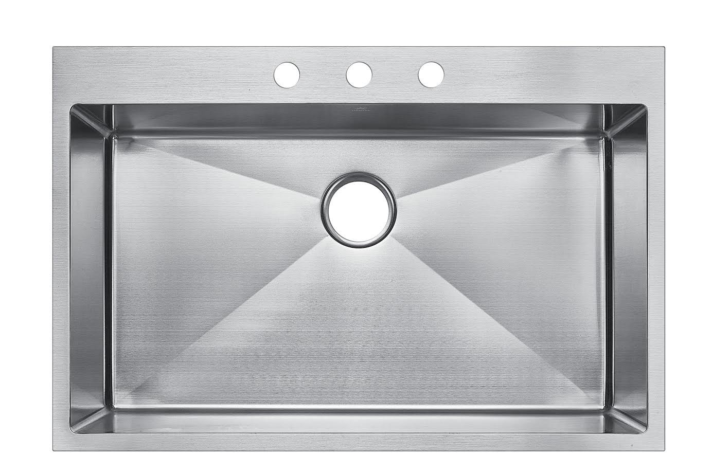 Starstar 30 X 22 Top-mount Single Bowl Kitchen Sink Drop-in 304 Stainless  Steel 16 Gauge