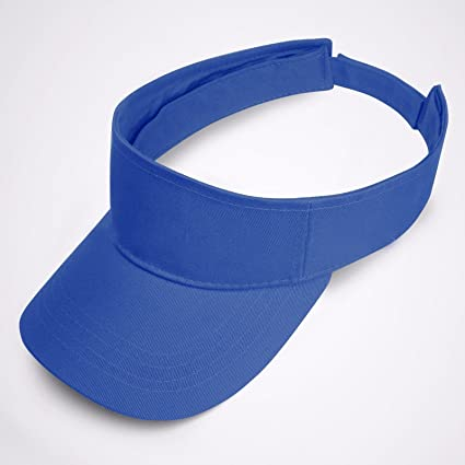 cf8bfe29b9116 Image Unavailable. Image not available for. Color  Full 90 Royal Blue Visor  Sun Plain Hat Sports Cap Colors Golf Tennis Beach Adjustable Summer