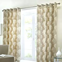 One pair of 'Woodland Trees' Eyelet Curtains-P