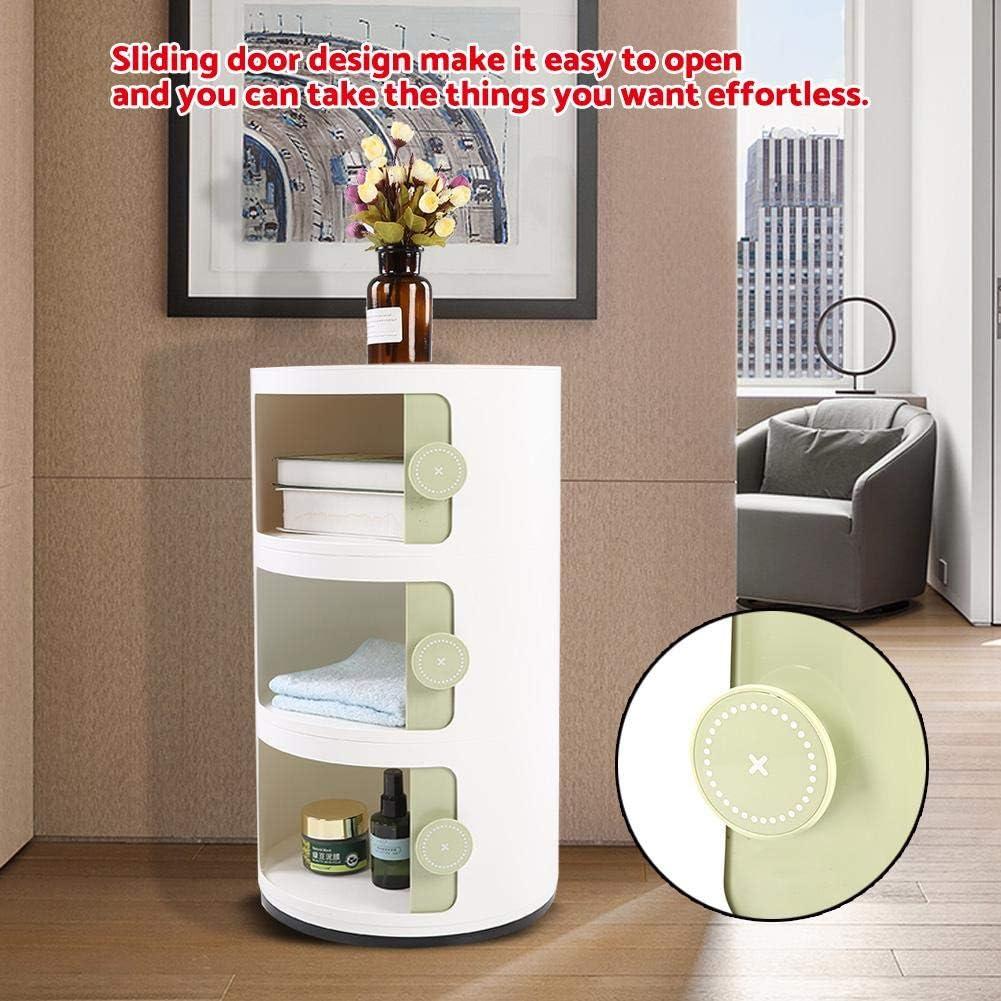GOTOTOP Table de Chevet Table d/'Appoint avec 3 Tiroirs Table de Nuit Moderne Table Basse pour Salon Chambre Couloir Bureau Vert