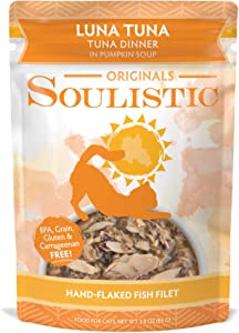 Soulistic Originals Luna Tuna Tuna Dinner in Pumpkin Soup Wet Cat Food, 3 oz., Case of 8, 8 X 3 OZ