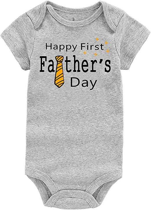 WINZIK Happy 1st Father/'s Day Baby Clothes Newborn Infant Boy Girl Bodysuit Romper One-Piece Suit Outfit Gift