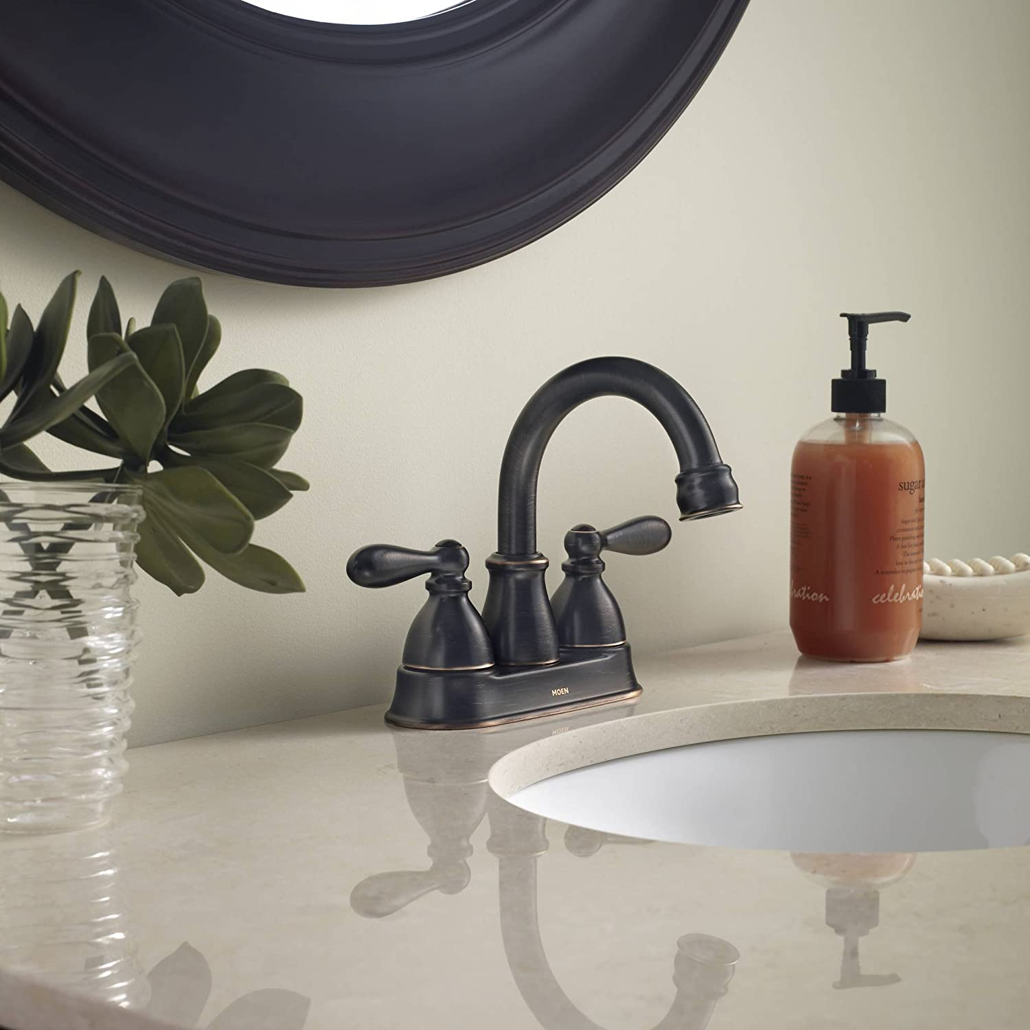 Moen CA84667BRB Double Handle Centerset Bathroom Faucet from the ...