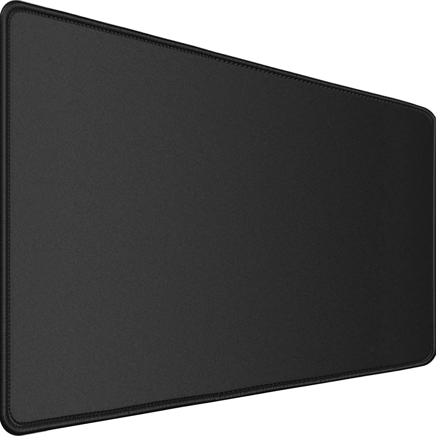 """Larger Extended Gaming Mouse Pad with Stitched Edges, 31.5""""x15.7""""x0.12"""" DurableXXL Computer LaptopMouse Pad,Desk Mat,Non-Slip Base Waterproof Writing Desk Mat for HomeOffice Work& Gaming, Black"""