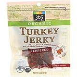 365 Everyday Value, Organic Turkey Jerky, Peppered Flavor, 3 oz