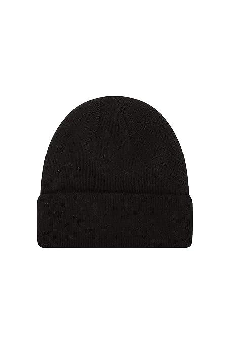 281d98116a8 Mountain Warehouse Thinsulate Mens Knitted Beanie - Soft Winter Hat Black  Small Medium